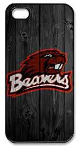 Icasepersonalized Personalized Protective Case for iPhone 5 - NCAA Oregon State Beavers in Wood Background