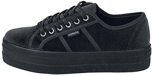 para Terciopelo 10 Victoria Zapatillas Mujer Negro Basket Negro qtxOwF5