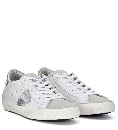 Philippe Model Sneakers Modell Paris in Leder Weiss & Silber Weiß