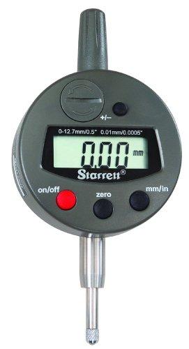Starrett 3600M-5 LCD Electronic Indicator, 8mm Stem Dia., 0-12.7mm Range, 0.01mm Graduation