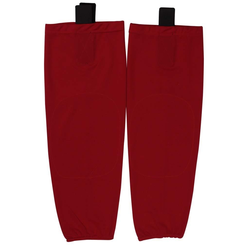 COLDINDOOR Hockey Socks, Kids Teens Shin Guards Mesh Ice Hockey Socks Junior S Red