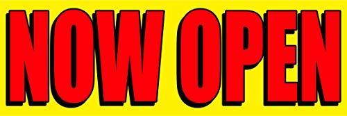 """2ft x 6ft Now Open Vinyl Banner with Metallic Grommets 24"""" x 72"""" Now Open Sign"""