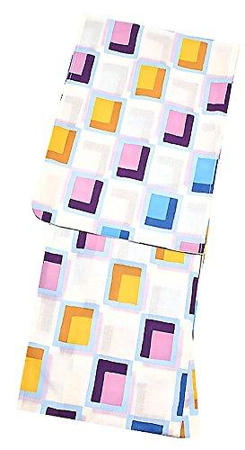 理想的流産訪問[ 京都きもの町 ] オリジナル 浴衣3点セット「パープルタイル」 浴衣TL+帯+下駄フリーサイズ_GT-F_