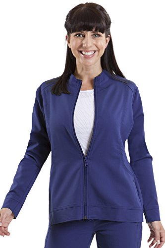 healing hands Purple Label Women's Dakota 5038 Zip Up Scrub Jacket Scrubs- Navy- ()