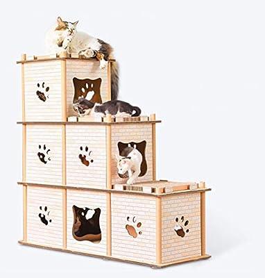 JYZT Casa De Perro Escalera Protección del Medio Ambiente Extraíble Nido De Gato Camas Perros Impresión