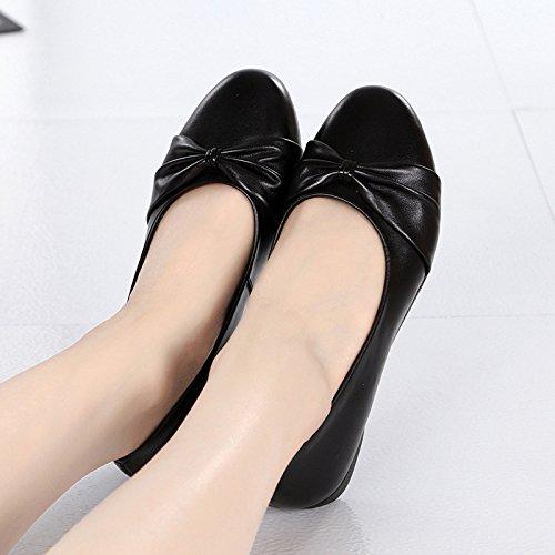 Antideslizante Inferior Los de Cómodos Parte Edad la ZFNYY Tamaño de de la Mediana Casuales el Suave Cómodos Zapatos Calzan de Grande Zapatos Madre Mujeres Las pqWnnSAB