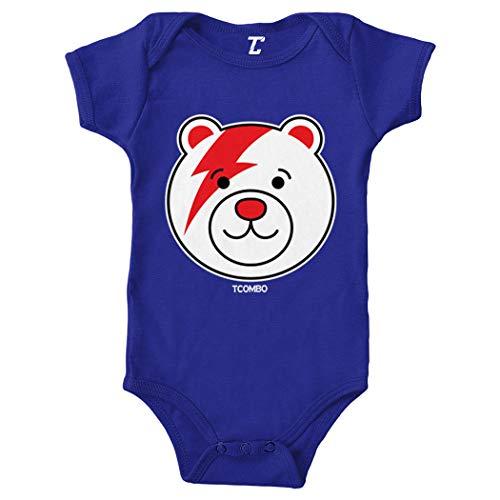 Teddy Bear - Lightning Bolt Iconic Bodysuit (Royal Blue, 12 Months) ()
