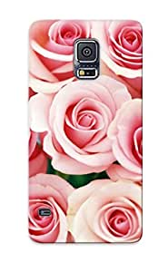 Durable Case For The Galaxy S5 - Eco-friendly Retail Packaging(white Roses Bouquet )