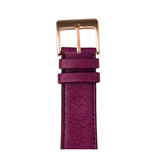 Roobaya | Premium Sauvage Leather Apple Watch Band in Purple | Includes Adapters matching the Color of the Apple Watch, Case Color:Rose Gold Aluminum, Size:42 mm by Roobaya