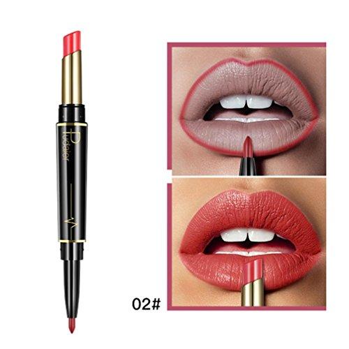 Tint Gloss Duo - Inverlee New Lip Liner Pencil Double-end Lasting Lipliner Waterproof Lip Liner Stick Pencil Long Lasting Lipliner Makeup Tools Cosmetic 16 Color (B)