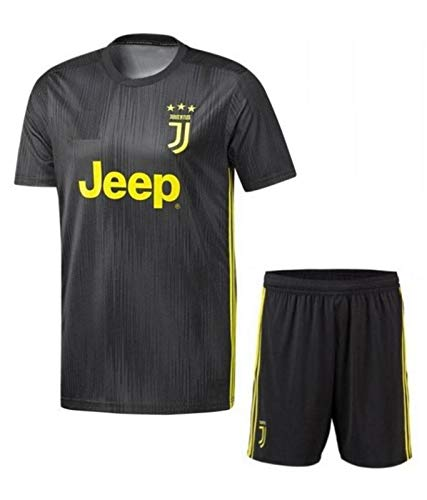 544c89c8f29 Roots4creation Boys Polyester Juventus Football Kit-2018 with Ronaldo  Printed at Back (Grey)