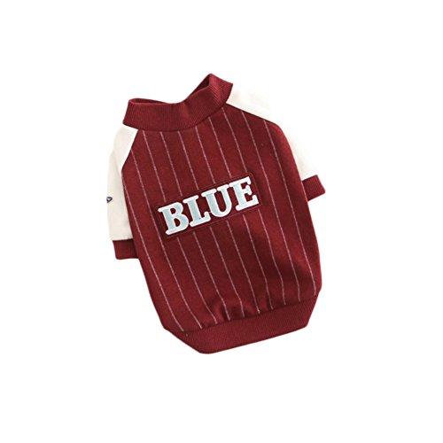 RUIYI Pet Spring Clothes Dog Baseball Fleece Pet Shirt Dog Sportswear for Teddies