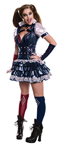 [Secret Wishes Women's Arkham Knight Harley Quinn Costume, Multi, Large] (Lady Knight Costume)