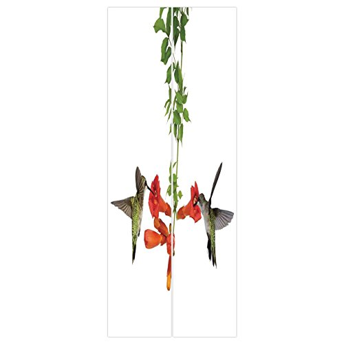Nectar Vineyards (iPrint 3d Door Wall Mural Wallpaper Stickers [ Hummingbirds Decor,Two Hummingbirds Sip Nectar from a Trumpet Vine Blossoms Summertime, Mural Door Wall Stickers Wallpaper Mural DIY Home Decor)