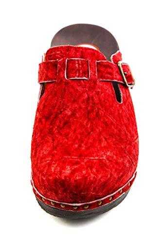 BKM1 Rouge 234 pour Mules Femme Berkemann YqOzw