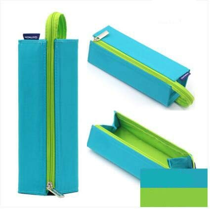 GREEN LFDQBH Square Pencil Bag For School Boy Girl Creative Design Portable Canvas Storage Tools Large Capacity Student Supplies