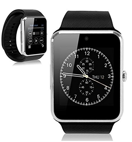 Amazon.com: WATCH4ME Bluetooth Smart Watch Touch Screen Smartwatch Cell Phone with SIM Card Slot Camera Pedometer Sport Tracker for IOS iPhone Android ...