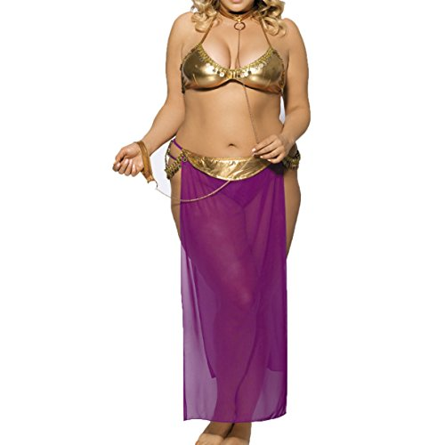 Harem Slave Flirting Plus Size Sexy lingerie Adult games Role play Babydoll Bustier Costume (3XL)