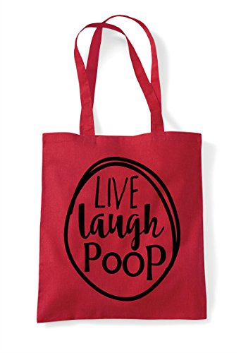 Tote Poop Live Shopper Red Bag Laugh Statement qO1wn8A71