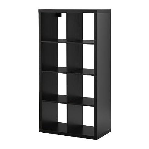 IKEA KALLAX – Regal – Schwarz – Braun: Amazon.de: Küche & Haushalt
