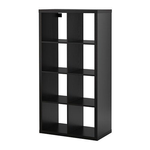 ikea-kallax-bookcase-room-divider-cube-display-black-brown