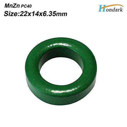20ea 22X14X6.35mm Cable Wires EMI Filter ferrite Bead 0.87''X0.55''X0.25'' Inductor ferrite core Isolator ferrite Ring RF Choke ferrite ()