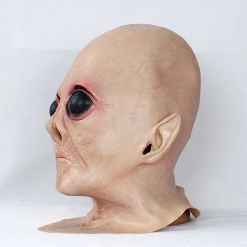 2015 - Hot Sale Realistic UFO Alien Head Mask For Halloween Made of Latex Creepy Costume Party (Realistic Masks For Sale)