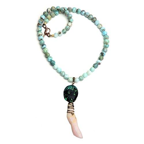 Satin Crystals Larimar Necklace 18