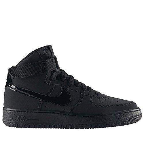 Nike AIR Force 1 HIGH (GS) Black/Black-Black by Nike (Image #4)