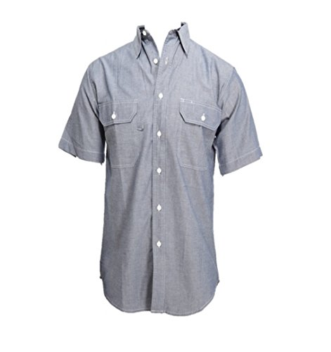 W S BCO Chambray Men's 100% Cotton Short Sleeve Shirt (XL)