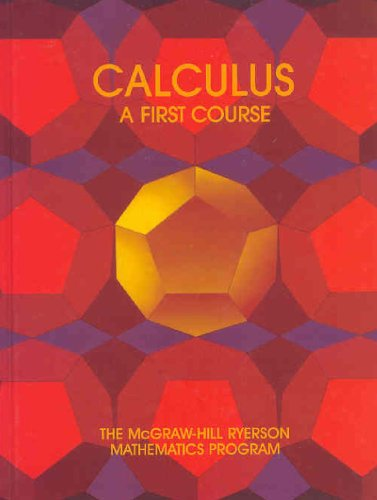 Calculus: A First Course