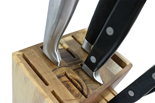 15 Slot Acacia/Rubber Wood Knife Block Without Knives By Coninx. Universal Knife Storage And Holder Organizer (Acacia) by Coninx (Image #2)