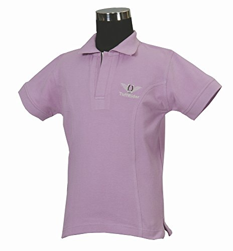 TuffRider Girl's Polo Shirt, Lilac, Small (Cotton Tuffrider Shirt)