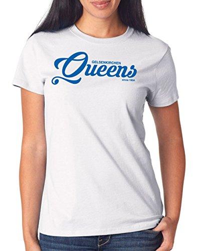 Gelsenkirchen Queens T-Shirt Girls White Certified Freak
