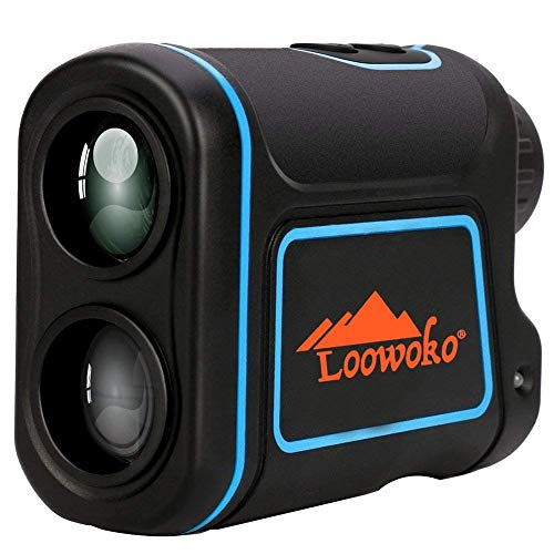 Loowoko 656 Yards Telescope Rangefinder, Portable Handheld Rechargeable Binoculars Laser Rangefinder for Golfing Hunting Racing