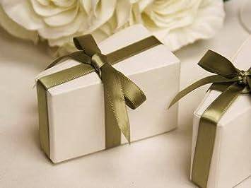 100 Pcs White Triangle CAKE Wedding Favor Boxes