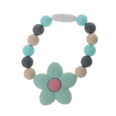 Ladaidra Baby Nursing Bracelets Silicone Chew Beads Teething Rattles Toys Teether Montessori Bracelets: Toys & Games