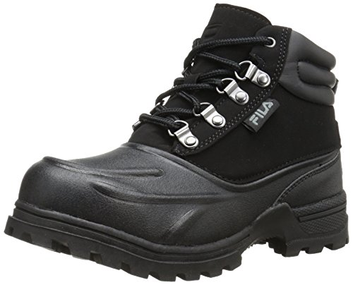 Fila Weathertec Hiking Shoe (Little Kid/Big Kid), Black/Black/Black, 6.5 M US Big Kid