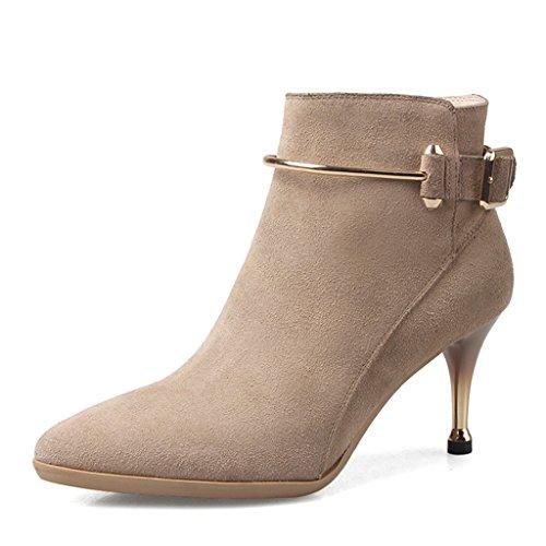 Couleur neige Martin Nude color Bottes à et Color Bottes fins à Raquettes Bottes talons Chaussures Femme boots taille 36 Femme Nude gq6CcwOc