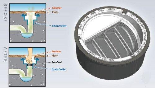 3 Inch In Floor Drain Trap Seal Sureseal Plumbing E Shop