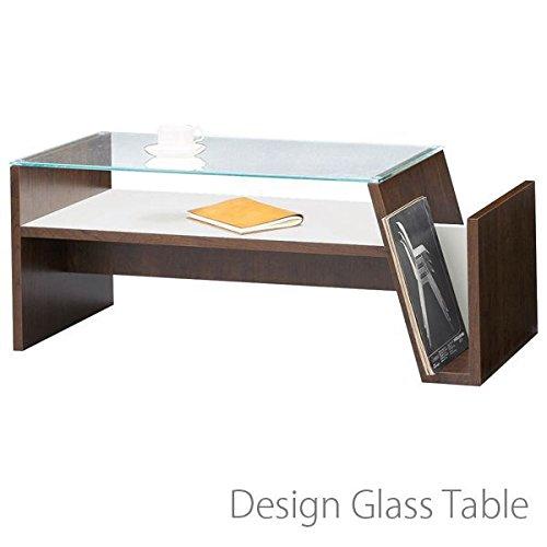 ガラス テーブル( センターテーブル ガラステーブル 机 リビングテーブル モダン お洒落 デザイン ) B00UCRVQSQ