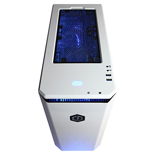 CYBERPOWERPC-BattleBox-Ultimate-SLC9900-Gaming-PC-AMD-Ryzen-7-1800X-36GHz-NVIDIA-GeForce-GTX-1080-Ti-11GB-32GB-RAM-3TB-HDD-240GB-SSD-WiFi-Win-10-Home-White