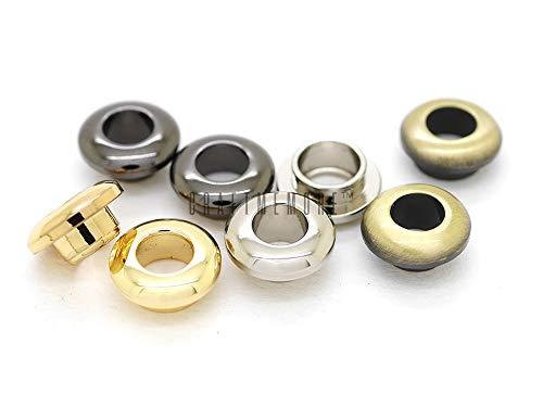 CRAFTMEmore Metal Push Snap Together Grommet Snap Rings Eyelet O-Rings Purse Loop Easy Installation Pack of 10 Complete Rings (5mm (3/16