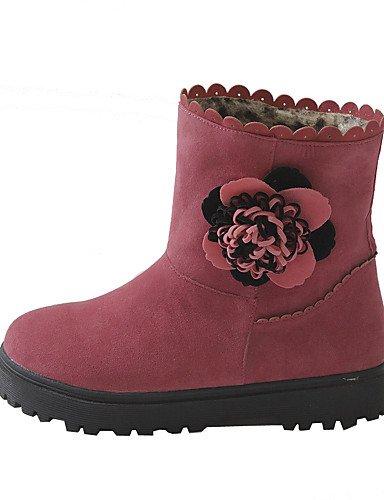 Xzz Punta us8 Mujer Negro Plataforma Pink Cn39 Rojo Rosa Sintético Eu39 Zapatos us8 Ante Vestido Redonda Botas Uk6 Red De Botines rwZrEX