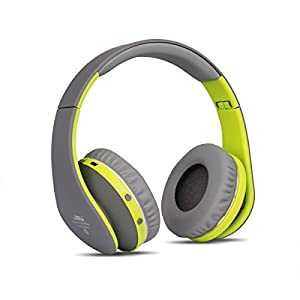 JBU Bluetooth Headphones JBT-900 Foldable Bluetooth 4.0 Wireless Headphones with Microphones Passive Headset for Travel, Work, Sport ,TV, Sports,Mega Bass 10 Hours Play Time (Grey)