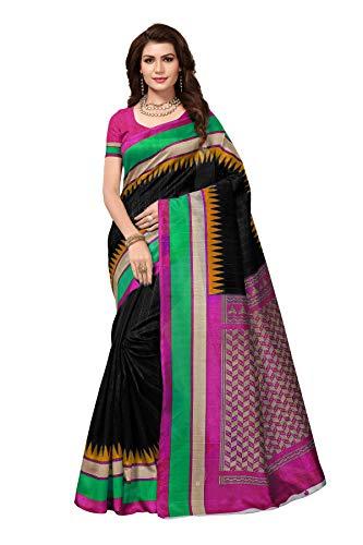CRAFTSTRIBE Indian Saree Party Wear Pakistani Ethnic Wedding Bollywood Black Bridal Sari