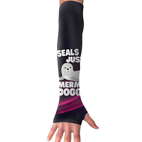 Sea Gals Costume (Cute Sea Lion Seal Playing Tricks 1 Pair UV Sleeves Sun Sleeves Cooling UV Protection Arm Sleeves Ability For Outdoors Sports Fit Unisex Use To Soccer Fishing)