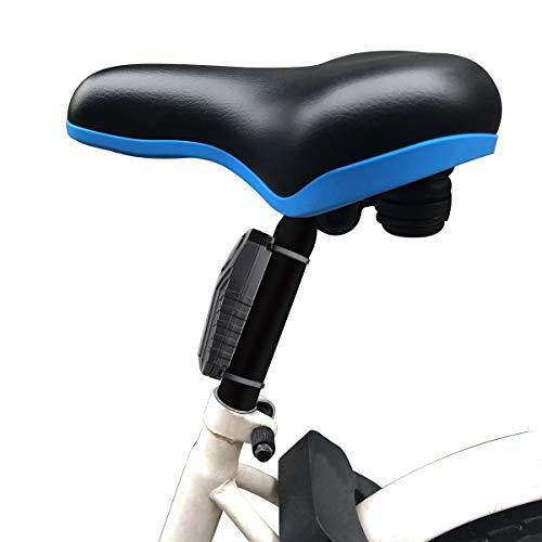 Mengshen Alarma de Bicicleta - Antirrobo para Bici Moto Coche Vehículos con Control Remoto, 113 db Súper Fuerte