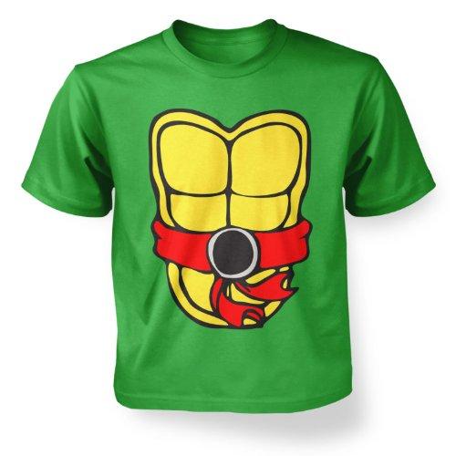 Zombie Ninja Turtles (Turtle Power Red Kids T-shirt - Irish Green M (7-8))