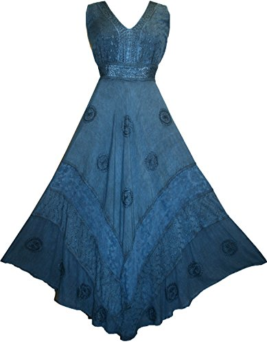 Roman Empire Victorian Traders Formal Blue Sleeveless 1011 Agan DR Long Flare Womens Dress Maxi qaWBxIXwR